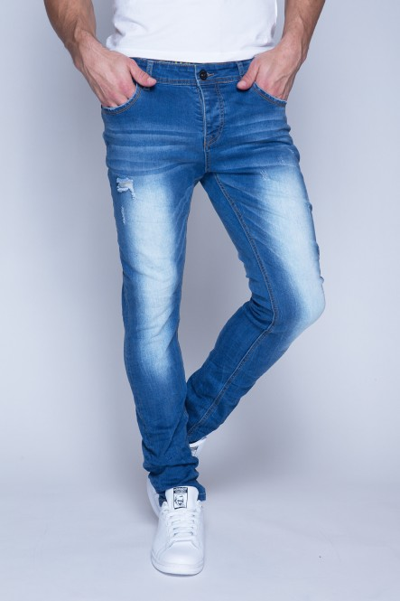 Stone used stretch denim...