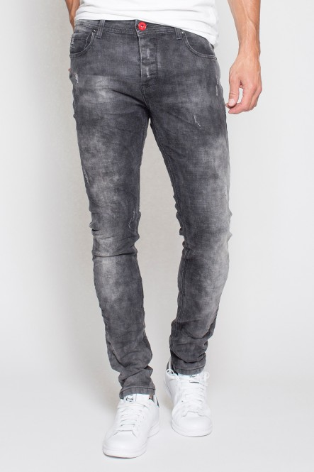 Stretch denim pants grey...