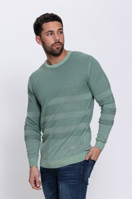 Faded round neck sweater...