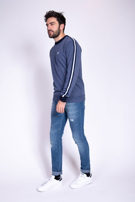 Sweater SCRIPT Navy