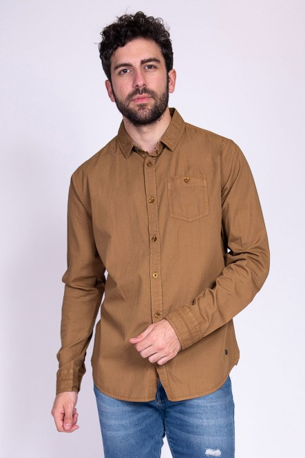 Long sleeves popeline shirt...