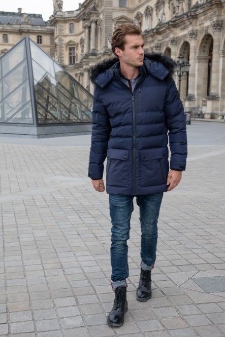 Puffy jacket LEISURE Navy
